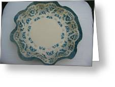 Lacy Platter Greeting Card by Julia Van Dine