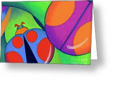 Ladies On A Leaf Greeting Card by Tracy L Teeter