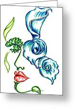 Lady Calli Lilly Greeting Card by Judith Herbert