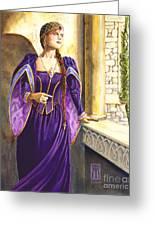 Lady Ettard Greeting Card by Melissa A Benson