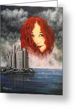 Lady Of The Lake Greeting Card by Bob Patterson