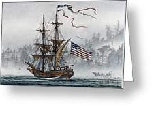 Lady Washington Greeting Card by James Williamson