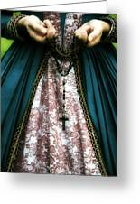 Lady With Rosary Greeting Card by Joana Kruse