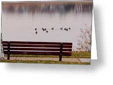 Lake Bench Greeting Card by James BO  Insogna