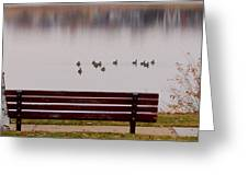 Lake Bench Greeting Card by James BO  Insogna