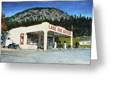 Lake Erie Grocery Greeting Card by Perry Woodfin