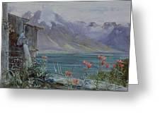 Lake Geneva Greeting Card by John William Inchbold