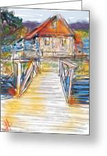 Lake House Greeting Card by Russell Pierce