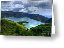 Lake in the Azores Greeting Card by Gaspar Avila