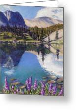 Lake Marie Greeting Card by Zanobia Shalks