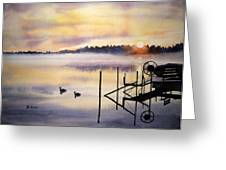 Lake Mist Greeting Card by Shirley Braithwaite Hunt