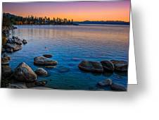 Lake Tahoe State Park Fall Sunset Greeting Card by Scott McGuire