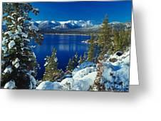 Lake Tahoe Winter Greeting Card by Vance Fox