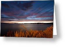 Lake Taupo Sunset Greeting Card by Marc Garrido