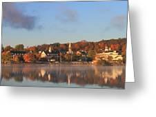 Lake Winnipesaukee Meredith Autumn Morning Greeting Card by John Burk