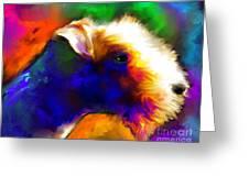 Lakeland Terrier Dog Painting Print Greeting Card by Svetlana Novikova