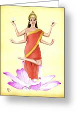 Lakshmi Greeting Card by Kevin Clark