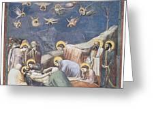 Lamentation Greeting Card by Giotto Di Bondone