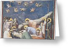 Lamentation Greeting Card by Giotto Di Bondone