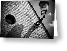 Lamp with Shadow Greeting Card by Dave Bowman