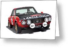 Lancia Fulvia Hf Greeting Card by Alain Jamar