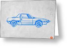 Lancia Stratos Greeting Card by Naxart Studio