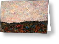 Land and Sky Greeting Card by James W Johnson