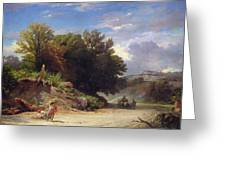 Landscape On The Outskirts Of Rome Greeting Card by Jean Achille Benouville