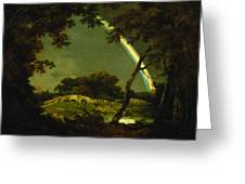 Landscape With A Rainbow Greeting Card by Joseph Wright of Derby