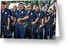 Lapd Safeguarding Lives Greeting Card by Chris Yarzab