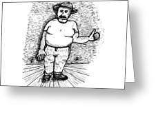 Large Man Greeting Card by Karl Addison