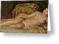 Large Nude Greeting Card by Pierre Auguste Renoir