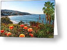 Las Brisas Roses Greeting Card by Rosanne Nitti