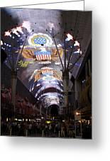 Las Vegas Street Light Show Greeting Card by Viktor Savchenko
