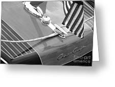 Late 1940's Chris Craft Custom Greeting Card by Neil Zimmerman