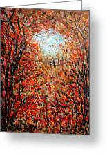 Late Autumn Greeting Card by Natalie Holland