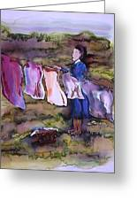 Laundry Day Greeting Card by Carolyn Doe