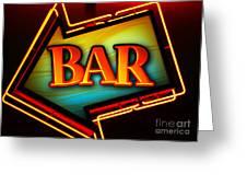 Laurettes Bar Greeting Card by Barbara Teller