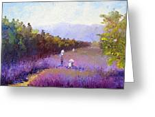 Lavender Fields Greeting Card by Terry  Chacon