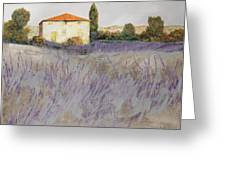 Lavender Greeting Card by Guido Borelli