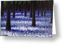 Lavender Woodland Greeting Card by John  Nolan