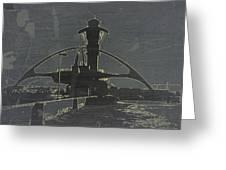 Lax Grey Greeting Card by Naxart Studio