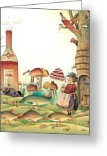 Lazinessland03 Greeting Card by Kestutis Kasparavicius