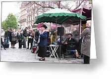 Le Avenue Mouffetard Greeting Card by Lori  Secouler-Beaudry