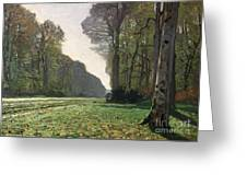 Le Pave De Chailly Greeting Card by Claude Monet