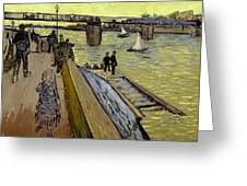 Le Pont De Trinquetaille In Arles Greeting Card by Vincent Van Gogh
