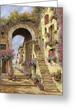 Le Scale E Un Arco Greeting Card by Guido Borelli