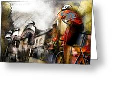 Le Tour De France 06 Greeting Card by Miki De Goodaboom