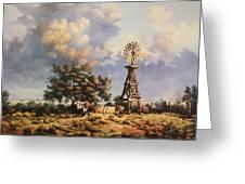 Lea County Memories Greeting Card by Wanda Dansereau