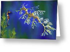 Leafy Sea Dragon Greeting Card by Thanh Thuy Nguyen